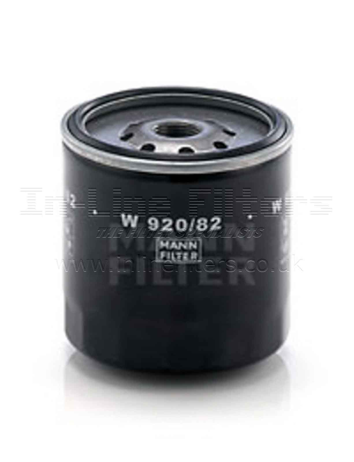 FMH-W920-82 FILTER-Lube(Brand Specific-Mann W920/82) - Click Image to Close