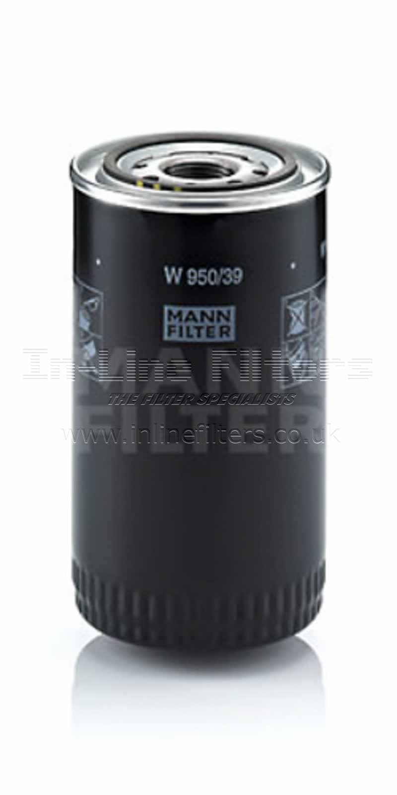 FMH-W950-39 FILTER-Lube(Mann W950/39) - Click Image to Close